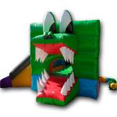 Brinca Brinca con Tobogán 6x5 con Figura de Cocodrilo
